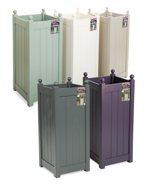 tall classic planters painted