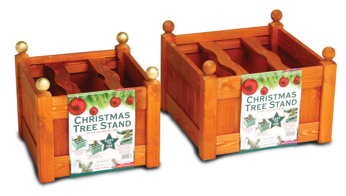 stained xmas tree stand teak set