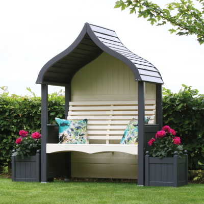arbour charcoal cream painted