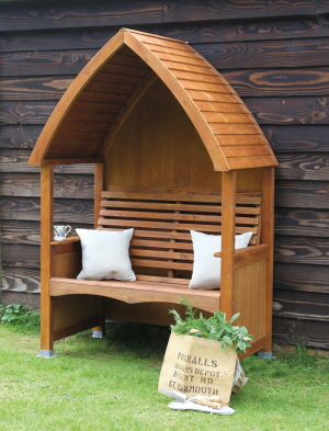 beech chestnut stain arbour