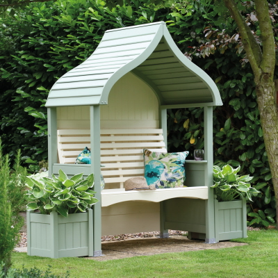 orchard arbour heritage sage cream painted