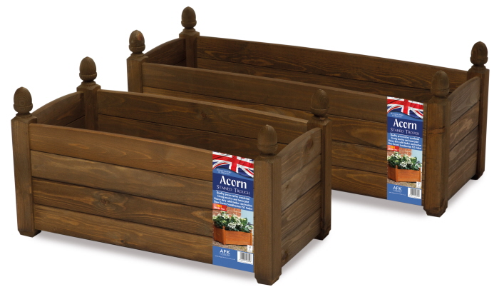 solid wood trough chestnut stain