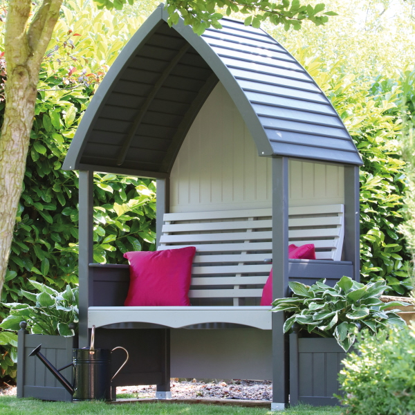 cottage arbour charcoal stone