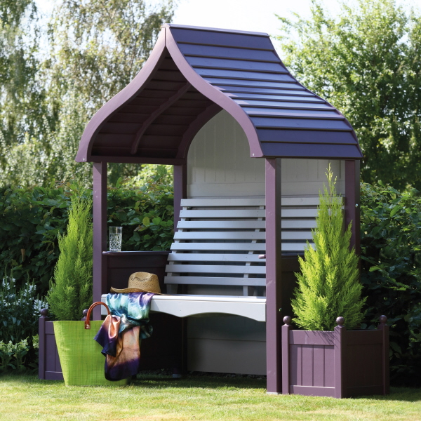 orchard arbour lavender stone painted