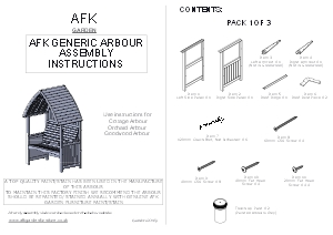 arbour assembly instructions AFK