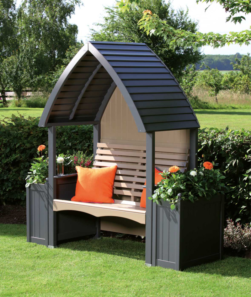 AFK arbour charcoal nutmeg painted