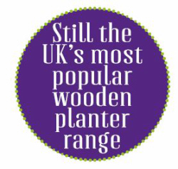 popular wooden planter range