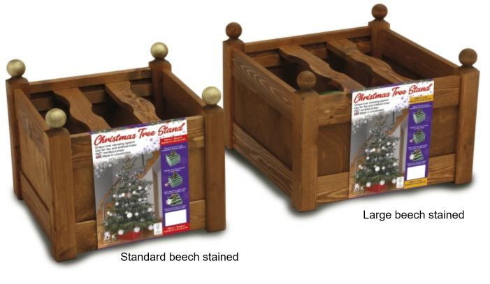 xmas tree stands beech stained