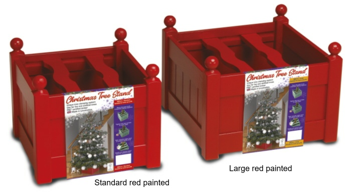 xmas tree stands red