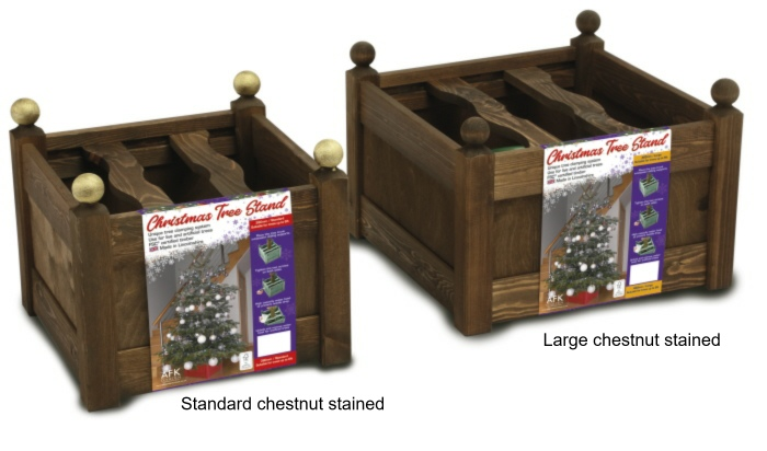 xmas tree stands chestnut stained